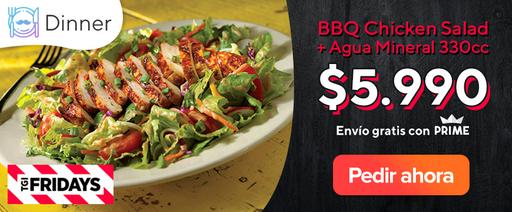 BBQ Chicken Salad + Agua Mineral 330cc $5.990