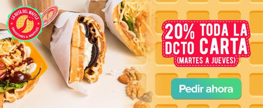 20% la ruta del waffle