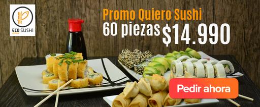 Promo Quiero Sushi: 60 piezas