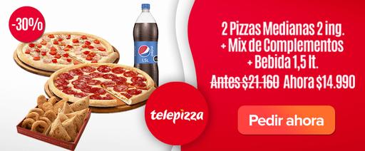 2 Pizzas Medianas Telepizza