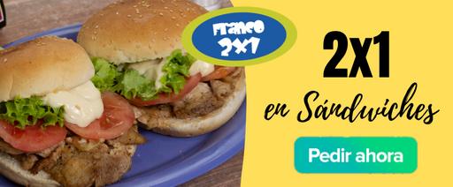 2x1 en sándwiches