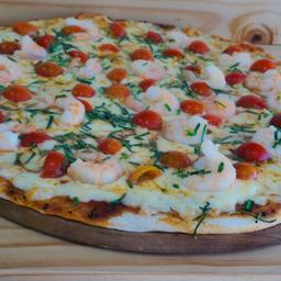Pizza Camarón que se Duerme