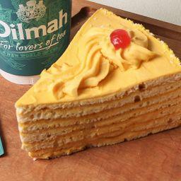 Trozo Torta Panqueque Naranja