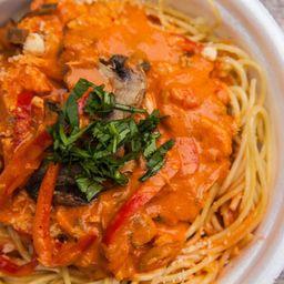 Spaghetti salsa polloloco