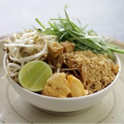 Pad Thai con Tofu y Camarones