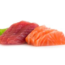 Sashimi atún rojo y salmón