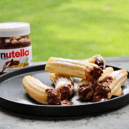 6 Churros Rellenos con Nutella