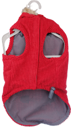 Abrigo Capucha Cotele Rojo L/Xl Oi18