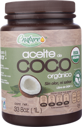 Aceite Enature de Coco Organico 1 L