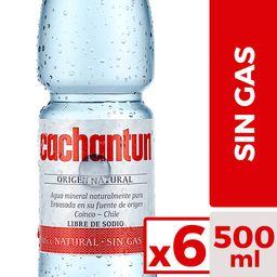 Cachantun Agua Mineral Sin Gas 6 X