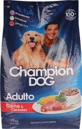 Alim Perro Champion Adulto Carne 15Kg