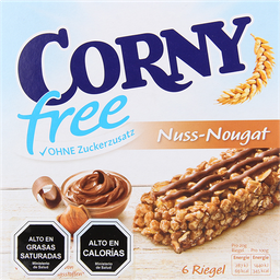 Barra de Cereal Corny Free Nuss/Nougat 6X20 g