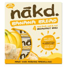 Barra Cereal Nakd de Banana y Frutos Secos 140 g