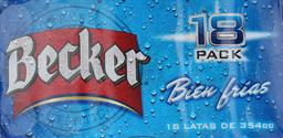 Cerveza Becker 354 mL x 18
