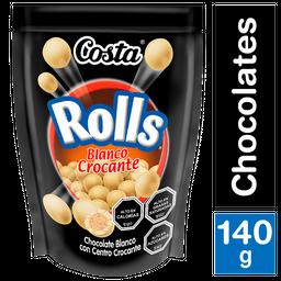 Costa Chocolate Rolls Blanco Crocante