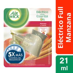 Aromatizante Air Wick Eléctrico Manzana y Canela 21 mL