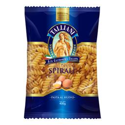 Fideos Espirales Talliani Nº56 Al Huevo 400 g