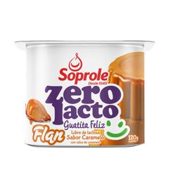 Flan Zero Lacto, Caramelo, Soprole 120 g