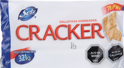 Galleta Selz Cracker Tripack 321 Grs
