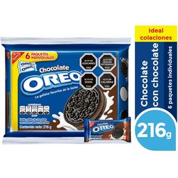Galletas Oreo Chocolate Sixpack 216 g
