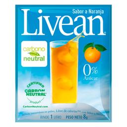 Bebida en Polvo Livean Naranja 8 g