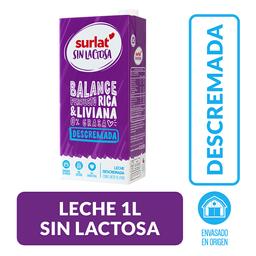 Leche Surlat sin Lactosa Descremada, Caja 1 l