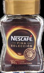 Café Nescafé Fina Selección, Instantáneo, Frasco 50 g