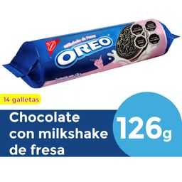 Galleta Oreo Milkshake Fresa 126 g