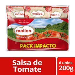 Malloa Pack Salsa De Tomate Tradicional Italiana 200g 6Un