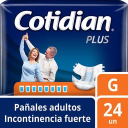 Pañal Para Adulto Cotidian Plus Incontinencia Fuerte G 24 U