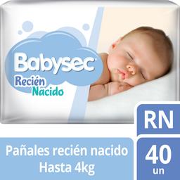 Pañal Babysec Recien Nacido 40 U