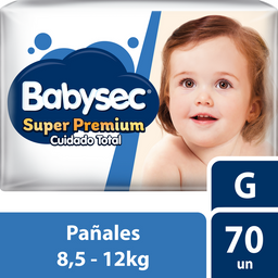 Pañal Babysec Super Premium G 70 U