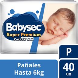 Babysec Pañal Super Premium P 40 U (Hasta