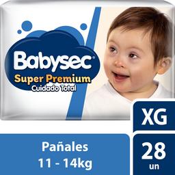 Babysec Infantil Sup.Prem.Xg X28