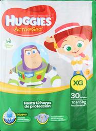 Pañal Huggies Active Sec Xg 30 U