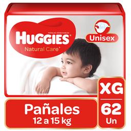 Pañal Huggies Natural Care Niño Xg 62 U