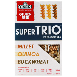 Pasta Espiral Trio Cereal Orgánica 250 g