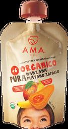 Pouch Organico Ama Platano Mango 90G