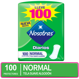 Toallas Higienicas Protector Diario Nosotras Normal 100un