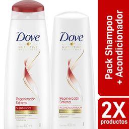 Dove Pack Shampoo 400 Ml + Acondicionador