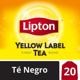 Lipton Te Negro Yellow Label 20 Bolsitas