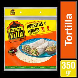 Pancho Villa Tortilla Burrito 8 Un