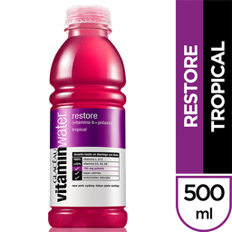 Vitamin Water Agua Energy Restore Tropical Glaceau