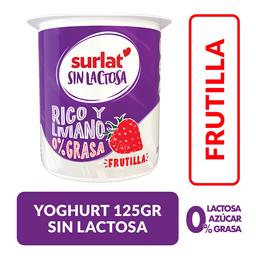 Yogurt Surlat sin Lactosa, Frutilla 125 g