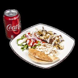 Menú 3 al Plato de Arroz con Pollo y Carne