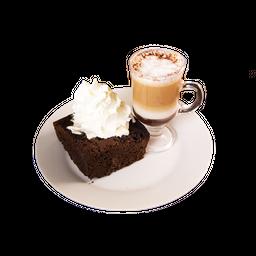 Café Chico + Queque o Brownie