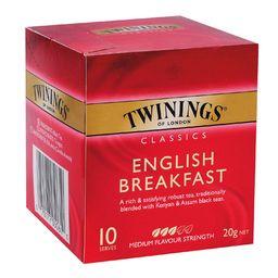 Té, English Breakfast Tea, Caja 10 Bolsitas