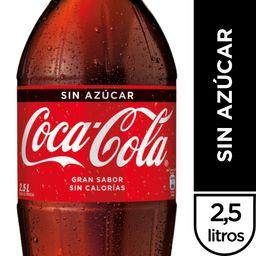 Bebida Coca-Cola sin azúcar 2,5L (No Retor.)