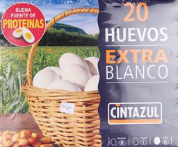 Huevo Cintazul Extra Blanco, Empaque 20 u