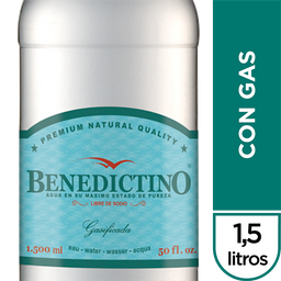 Benedictino Agua Con Gas Botella